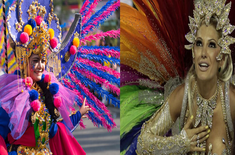 Jember Fashion Carnaval = Rio Carnival, Brazil